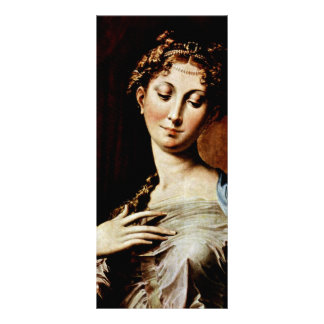 Madonna With The Long Neck  By Parmigianino Customized Rack Card