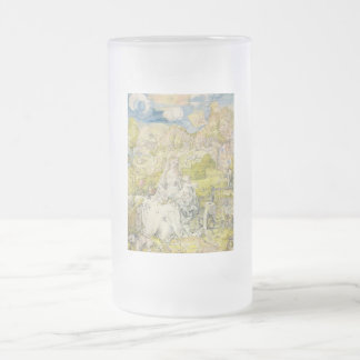 Madonna with the many animals 16 oz frosted glass beer mug