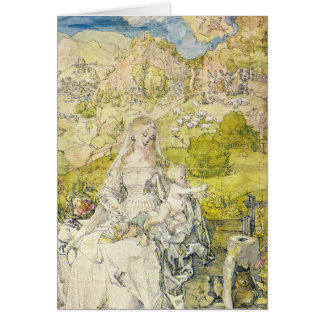 Madonna with the many animals greeting card
