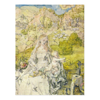 Madonna with the many animals postcard