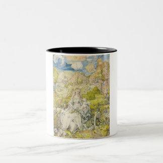 Madonna with the many animals Two-Tone coffee mug