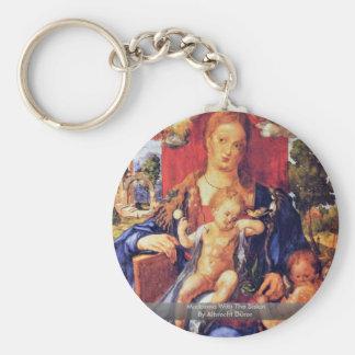 Madonna With The Siskin By Albrecht Dürer Keychain