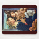 Madonna With Two Angels By Lippi Fra Filippo Mousepad