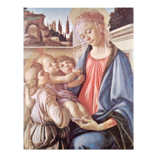 Madonna With Two Angels, By Sandro Botticelli Flyer Design