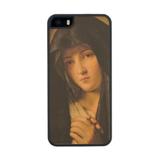 Madonna Wood Phone Case For iPhone SE/5/5s