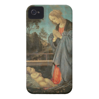 Madonna worshipping the Child, c.1477-80 (oil on p iPhone 4 Case