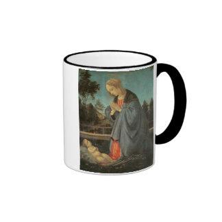 Madonna worshipping the Child, c.1477-80 (oil on p Ringer Mug