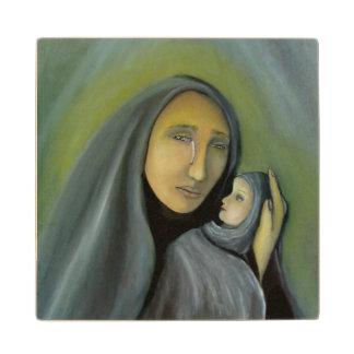 Madonna y bebé Jesús del Virgen María del navidad Posavasos De Madera