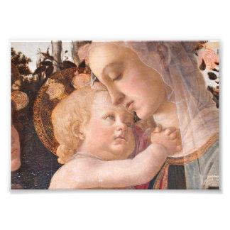 Madonna y bebé Jesús Fotografía