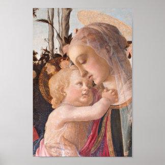 Madonna y bebé Jesús Póster