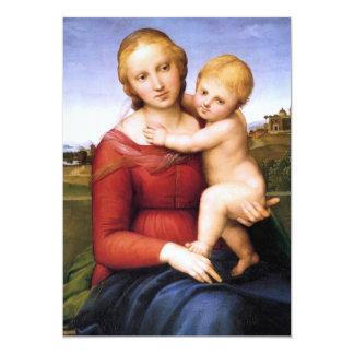 """Madonna y bebé rubios Jesús Invitación 5"""" X 7"""""""