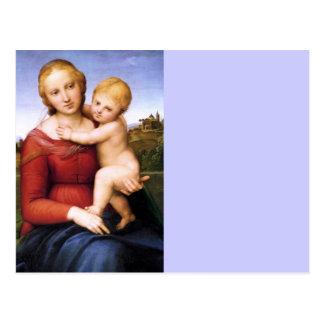 Madonna y bebé rubios Jesús Postal
