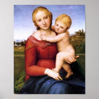 Madonna y bebé rubios Jesús Póster