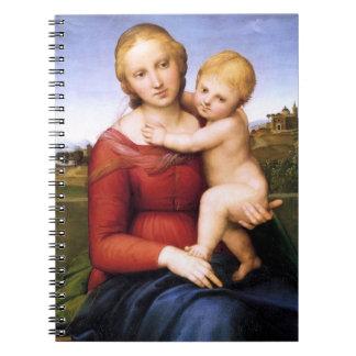 Madonna y bebé rubios Jesús Spiral Notebooks