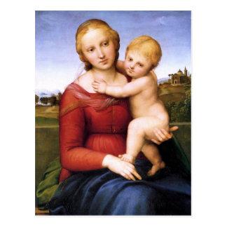 Madonna y bebé rubios Jesús Tarjetas Postales