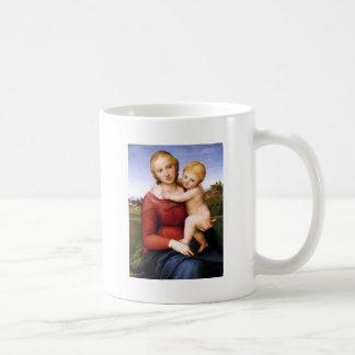 Madonna y bebé rubios Jesús Taza