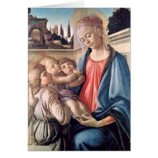 Madonna y bella arte de Botticelli de los ángeles Tarjeta Pequeña