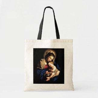 Madonna y bolso del personalizado del niño bolsa tela barata