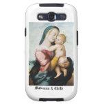 Madonna y caja de la galaxia s del niño samsung galaxy s3 protector