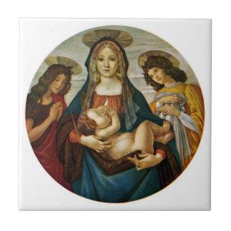 Madonna y el niño de Botticelli Azulejos Ceramicos
