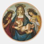 Madonna y el niño de Botticelli Pegatina