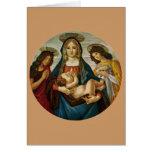 Madonna y el niño de Botticelli Tarjeta De Felicitación