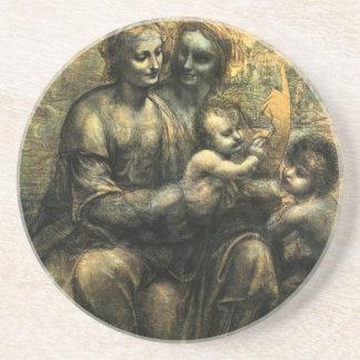 Madonna y el niño de da Vinci Posavasos Personalizados
