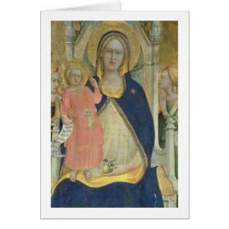 Madonna y el niño enthroned con los santos, detall tarjeta de felicitación