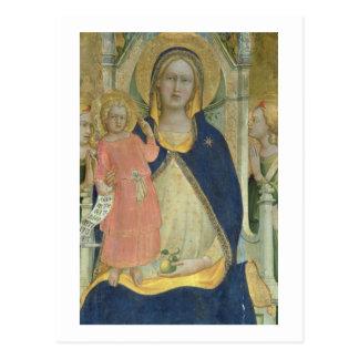 Madonna y el niño enthroned con los santos, postales