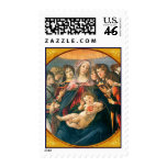 Madonna y franqueo del navidad de Botticelli del n