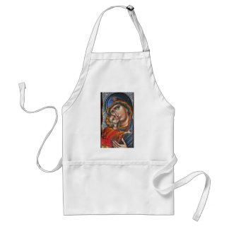 Madonna y Jesús infantil Delantal