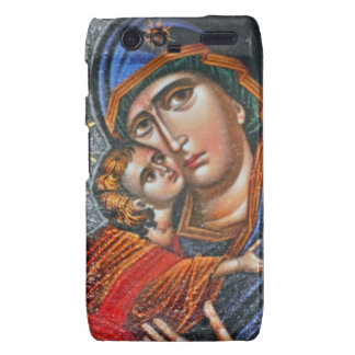 Madonna y Jesús infantil Motorola Droid RAZR Carcasas