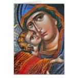 Madonna y Jesús infantil Tarjetas