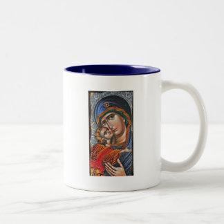 Madonna y Jesús infantil Taza