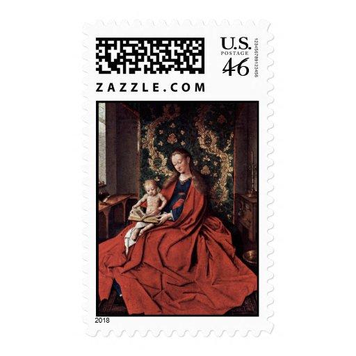 Madonna y lectura del niño de Eyck enero Van (el m Sello