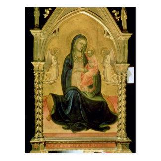 Madonna y niño, 1400 postal