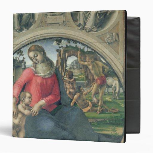 Madonna y niño, 1490-95 (aceite en el panel)