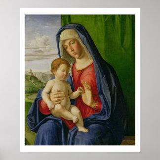 Madonna y niño, 1490s póster