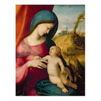 Madonna y niño, 1512-14 postal