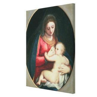 Madonna y niño, 1598 lienzo envuelto para galerías