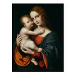 Madonna y niño 2 postal