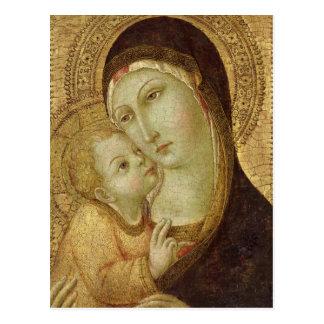 Madonna y niño 2 postales