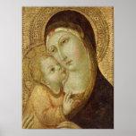 Madonna y niño 2 póster