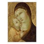 Madonna y niño 2 tarjeta de felicitación