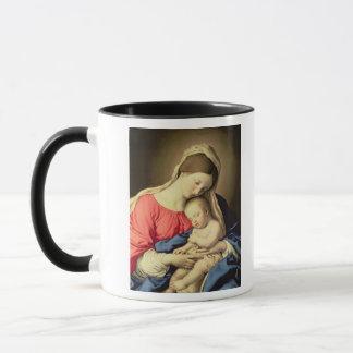 Madonna y niño 3 taza