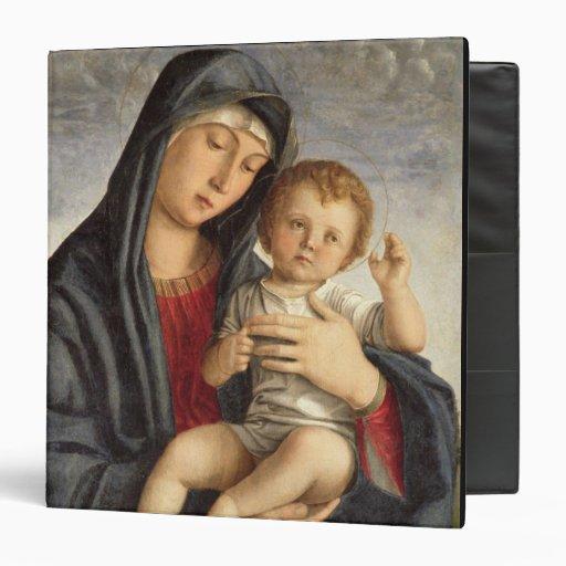 Madonna y niño (aceite en el panel) 2