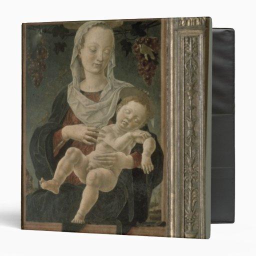Madonna y niño (aceite en el panel)