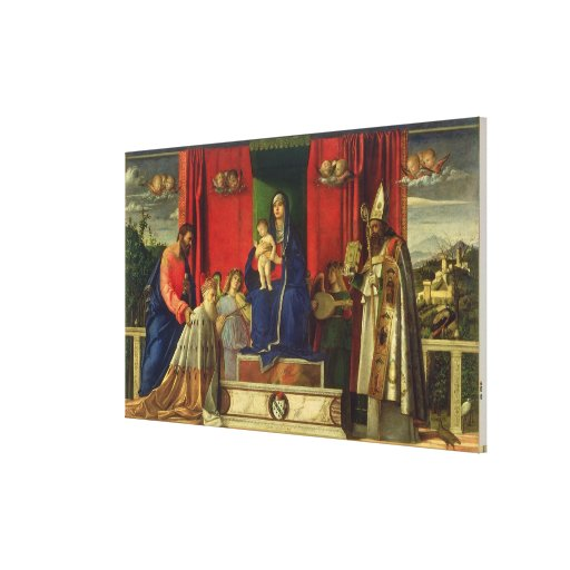 Madonna y niño (Altarpiece de Barbarigo) 1488 Impresiones De Lienzo