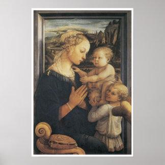 Madonna y niño, C. 1455 Poster