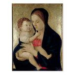 Madonna y niño, c.1475 postales